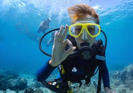 A young man diving in the sea in Mali Lošinnj, Croatia with the exchange school Sub Sea Son.