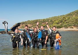 A group of divers from the diving school Sub Sea Son before their dive in Mali Lošinj, Croatia.