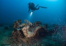 A diver from Sub Sea Son Diving School during his Open Water Diver dive in Mali Lošinj, Croatia.