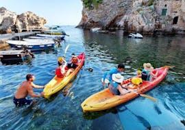Some people kayaking during the Sea Kayaking to Lokrum Island in Dubrovnik with X-Adventure Sea Kayaking Dubrovnik.
