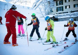 Children are participating at some Kids Ski Lessons (5-12 y.) for Beginners with Ski School Stuben.
