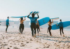1-Day Surfing Lessons on Praia da Galé in Albufeira with SUPA Surf School Albufeira