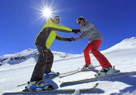 The Private Ski Lessons for Adults - Low Season - All Levels create perfect conditions for a beginner who is learning how to ski with an experienced ski instructor from the ski school Prosneige Val d'Isère.