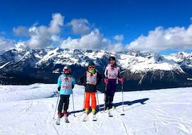 Kids in Andalp during one of the Kids Ski Lessons (7-14 y.) for Advanced Skiers - Full Day.