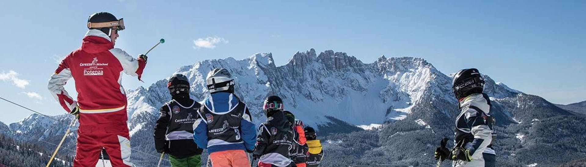 Kids Ski Lessons (from 4 years) - Advanced met Carezza Skischool - Hero image