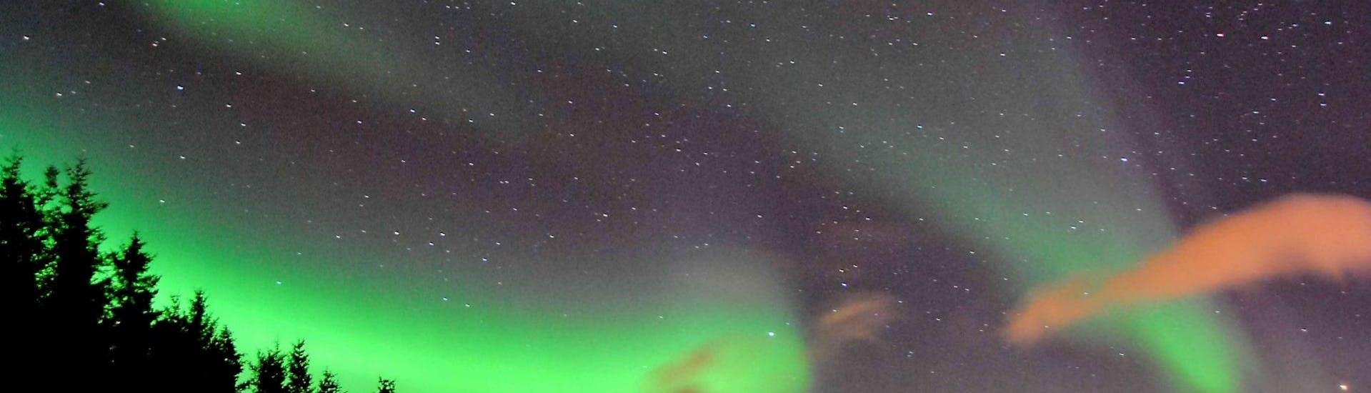 "Landscape of Lofoten with the Aurora during Kayak Tour ""Northern Lights"" in Lofoten organized by Northern Explorer."