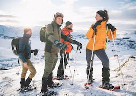 """Exploring the snowy trails during Snowshoeing Tour """"Explore"""" in Lofoten organized by Northern Explorer."""