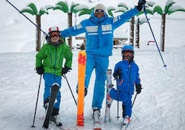 Kids are ready to take on the slopes with their private 360 Avoriaz instructor.