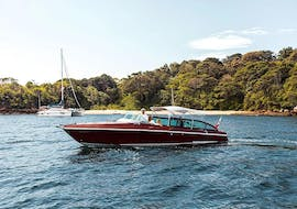 Tourists are enjoying the Private Luxury Boat Cruise in Sydney to Hidden National Park organised by Sydney Luxury Cruise.