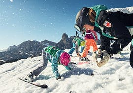 Cours de ski Enfants dès 4 ans - Premier cours avec Scuola di Sci e Snowboard Dolomites La Villa