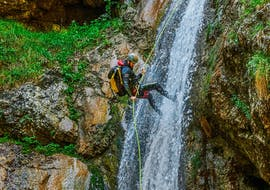 """Descend next to the waterfall during Canyoning """"Classic"""" - Savinja organized by Funpark Menina"""