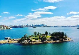 A view of Sydney harbour during the Sydney Harbour Boat Tour with Lunch Break with Sydney Harbour Boat Tours