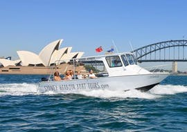 Our guests on our boat during the Full Day Sydney Boat Tour with Sydney Harbour Boat Tours