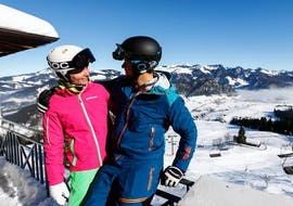 During the private snowboarding lessons for children & adults of all levels of Skischule Zahmer Kaiser guests can explore the unique region around Walchsee.