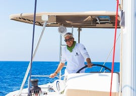 Luxury Catamaran Cruise w/ BBQ & Cocktails with Spiridakos Sailing Cruises Santorini