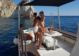 Private Sunset Cruise in Santorini w/ a Hike on the Volcano with Spiridakos Sailing Cruises Santorini
