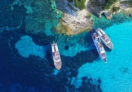 View during the boat trip to Paxos & Antipaxos with Blue Caves from Corfu with Ionian Cruises.