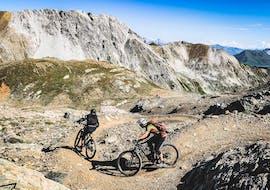 Bikers exploring the mountains during their Mountain Bike Hire in Lenzerheide from Epic Lenzerheide.
