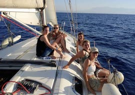 Family on a boat trip to Dia from Heraklion with Altersail.