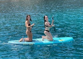 A boat trip from Ibiza goes to Formentera with SUP & snorkeling with Ibiza Nautical Excursion.