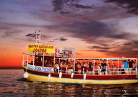 An image of the boat Sandra during the Dolphin Watching Boat Trip from Medulin at Sunset with Medulin Excursions.