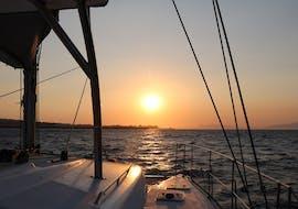 Wonderful sunset during the Sunset Catamaran Trip to Kallithea Springs with Snorkeling with Catamaran Cruises.