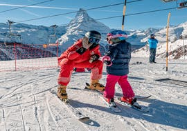 A kid is taking Private Ski Lessons for Kids of All Levels  with Swiss Ski School Zermatt - Zermatters.