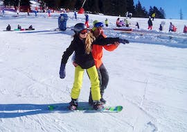 Private Snowboarding Lessons for All Levels & Ages avec Swiss Mountain Sports Crans-Montana