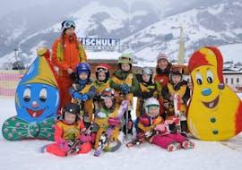 Kids Ski Lessons (4-16 y.) for Beginners with Ski School Adventure Rauris