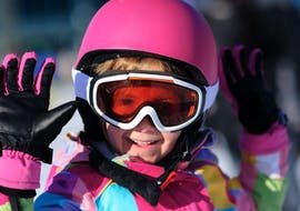 A kid is taking Private Ski Lessons for Kids - Low Season with Starski Grand Bornand.