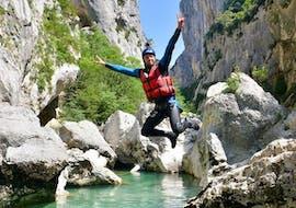 Half Day River Trekking from Castellane in Couloir Samson with Raft Session Verdon