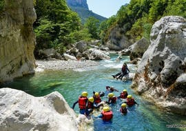 River Trekking in Chaos de l'Imbut from Castellane with Raft Session Verdon