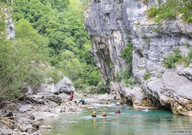 River Trekking at Pont de Tusset in July/August for Families with Yeti Rafting Verdon