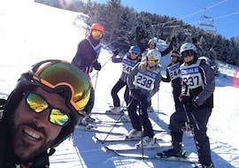Selfie with the ski instructor in Bormio during one of the  Kids Ski Lessons (6-12 y.) for All Levels - Full Day.