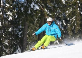 Skiing during Ski Instructor Private Lesson for Adults