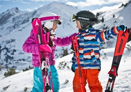 Kids playing in San Pellegrino during one of the Private Ski Lessons for Kids of All Levels.