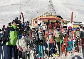 Kids are following Kids Ski Lessons (4-12 y.) for All Levels - Low Season with our partner EasySki Alpe d'Huez.